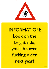 Rude Birthday Cards - Look On The Bright Side