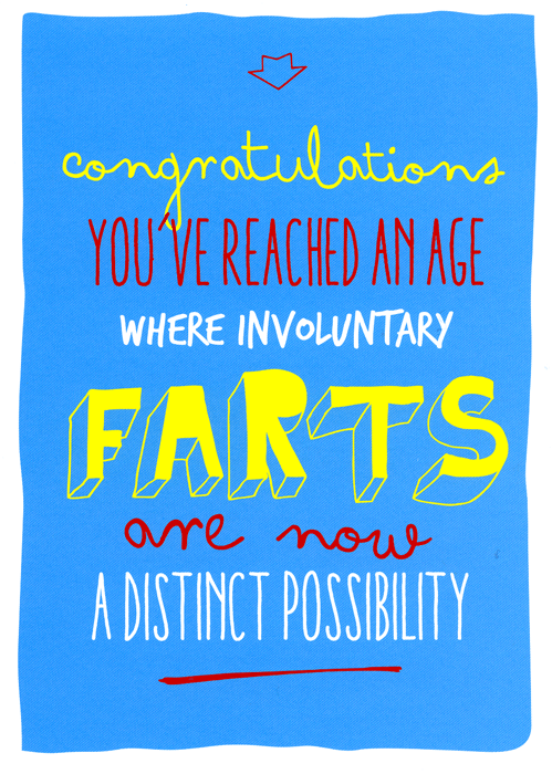 Birthday Card - Involuntary Farts