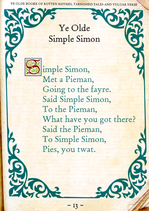 Funny Cards - Simple Simon