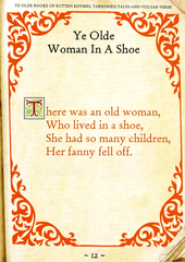 Rude Cards - Ye Olde Woman In A Shoe
