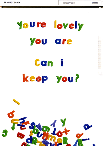 You're lovely you are