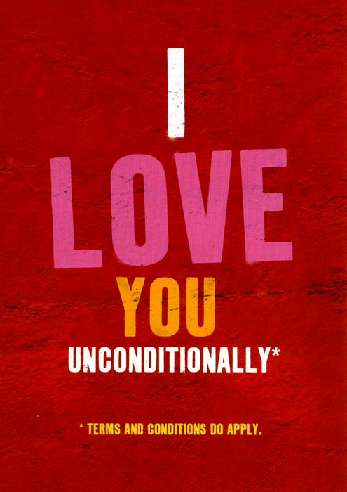 Valentines Cards - I Love You Unconditionally [word Up]