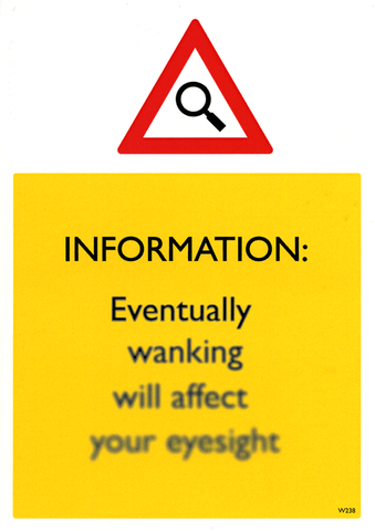 Rude Cards - Eventually Wanking Will Affect Your Eyesight
