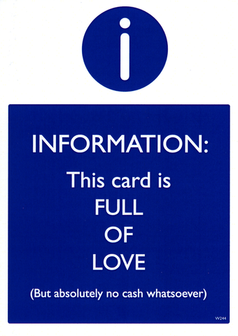 Funny Cards - Full Of Love - No Cash Whatsoever
