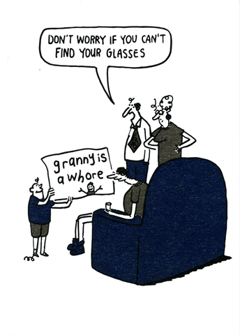 Funny Cards - Don't Worry If You Can't Find Your Glasses