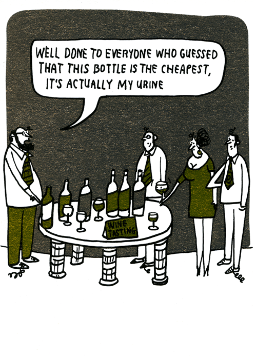 Funny Cards - Wine Tasting - Actually My Urine