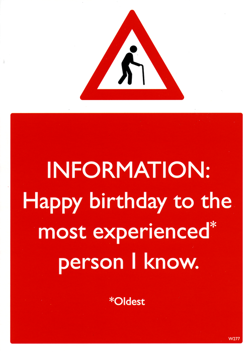 Birthday Card - Most Experienced Person I Know