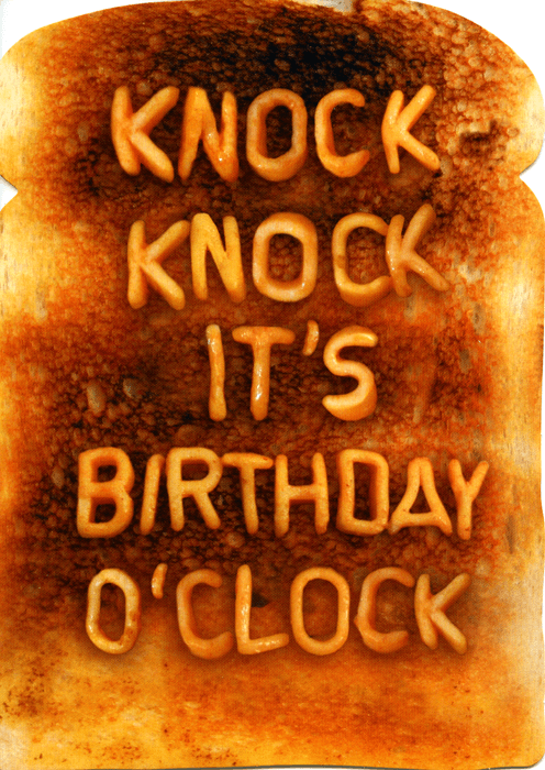 Birthday Card - Knock Knock It's Birthday O'clock