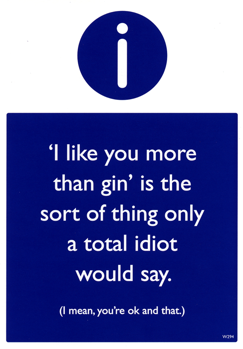 Funny Cards - Like You More Than Gin