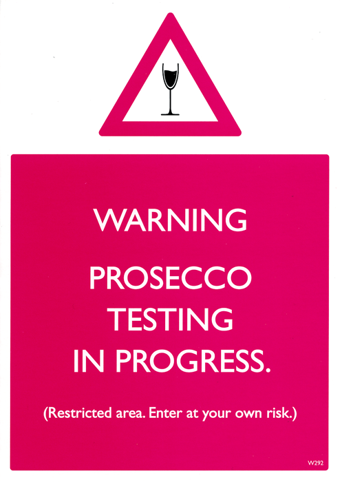Funny Cards - Prosecco Testing In Progress