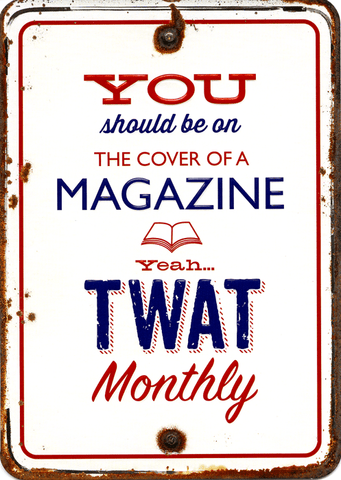 Funny Cards - Twat Monthly