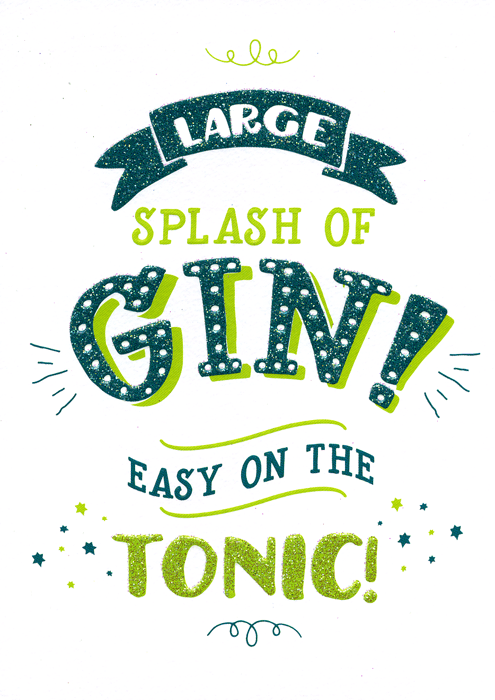 Funny Cards - Gin - Easy On The Tonic