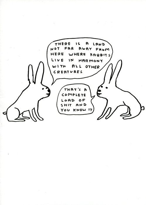Funny Cards - Rabbits Live In Harmony