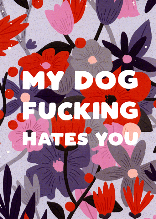 Rude Cards - My Dog Fucking Hates You