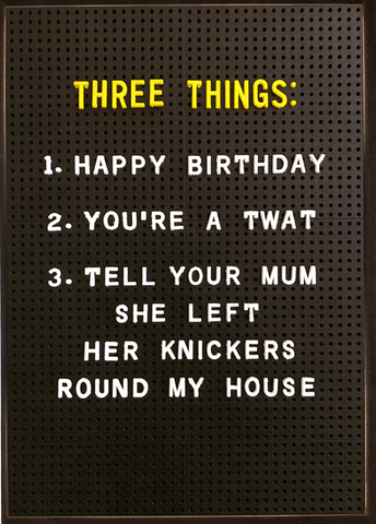 View Our Range Of Rude Birthday Cards