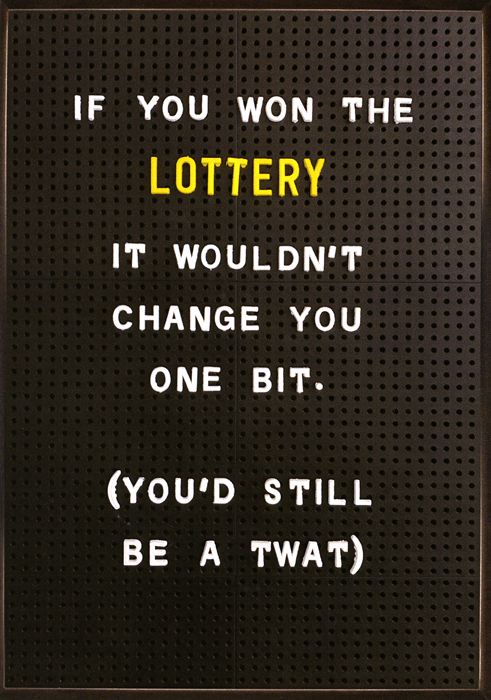Rude Cards - If You Won The Lottery