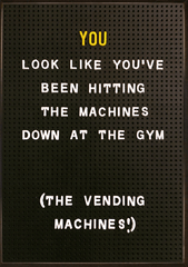 Rude Cards - Hitting The Gym Machines