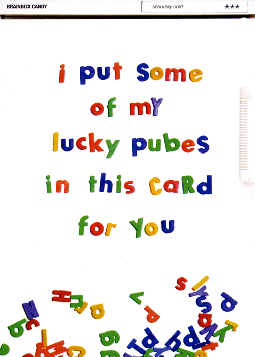 Rude Cards - I've Put Some Of My Lucky Pubes