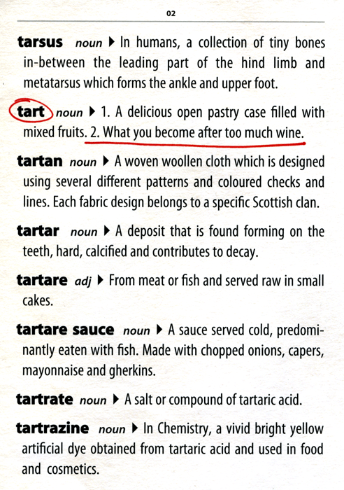 Funny Cards - Tart - Dictionary Definition