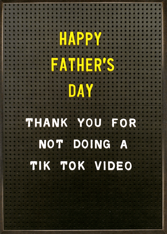 Thanks for not doing Tik Tok video