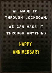 Love / Anniversary Cards - Made It Through Lockdown
