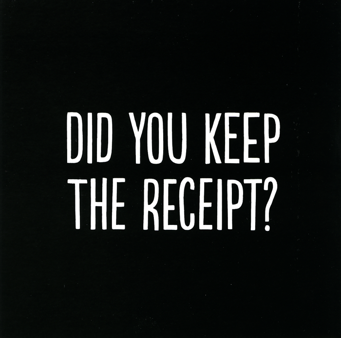 Thank You Card - Thank You: Did You Keep The Receipt?