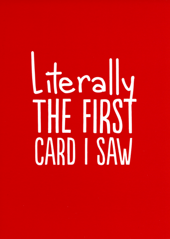 Literally the first card I saw