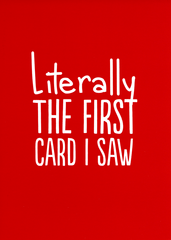 Funny Cards - Literally The First Card I Saw