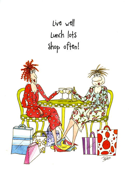 Funny Cards - Live Well, Lunch Lots, Shop Often