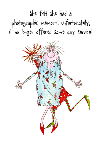 Funny Cards - Photographic Memory - No Longer Same Day Service