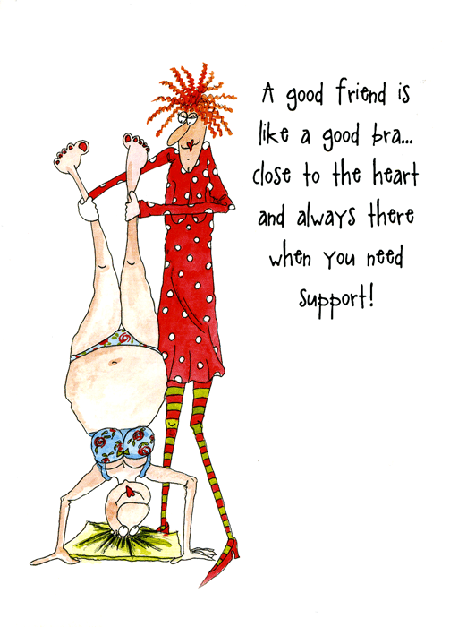 Funny Cards - Good Friend Is Like A Good Bra