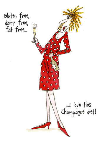 Funny Cards - Love This Champagne Diet