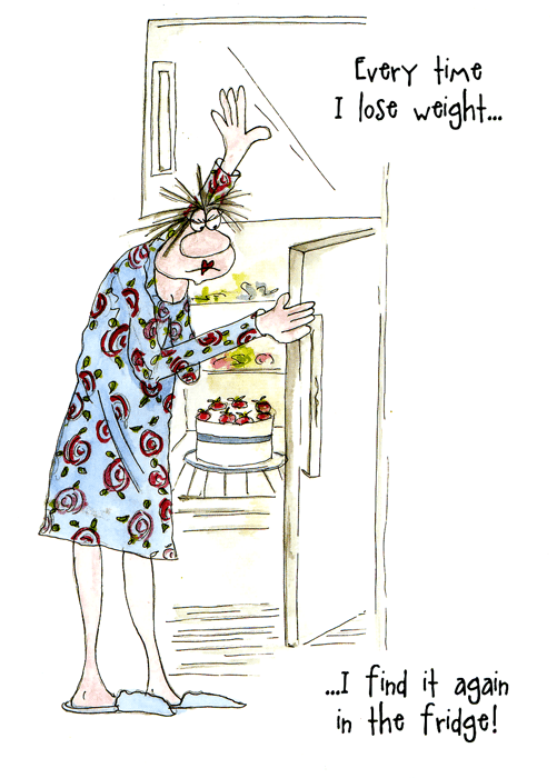 Funny Cards - Lose Weight - Find It In Fridge
