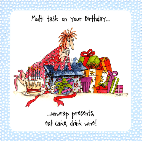 Birthday Card - Multi Task On Your Birthday