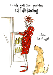Funny Cards - Self Distancing From The Fridge