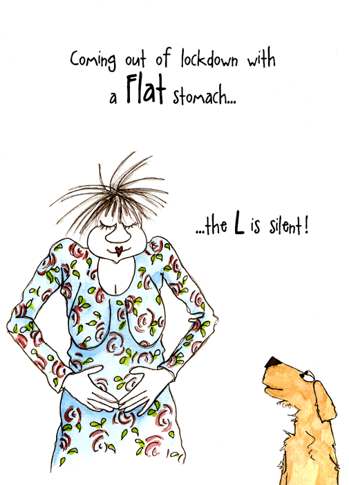Funny Cards - Flat Stomach After Lockdown