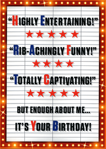 Birthday Card - Enough About Me