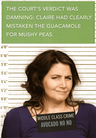 Funny Cards - Mistaken Guacamole For Mushy Peas