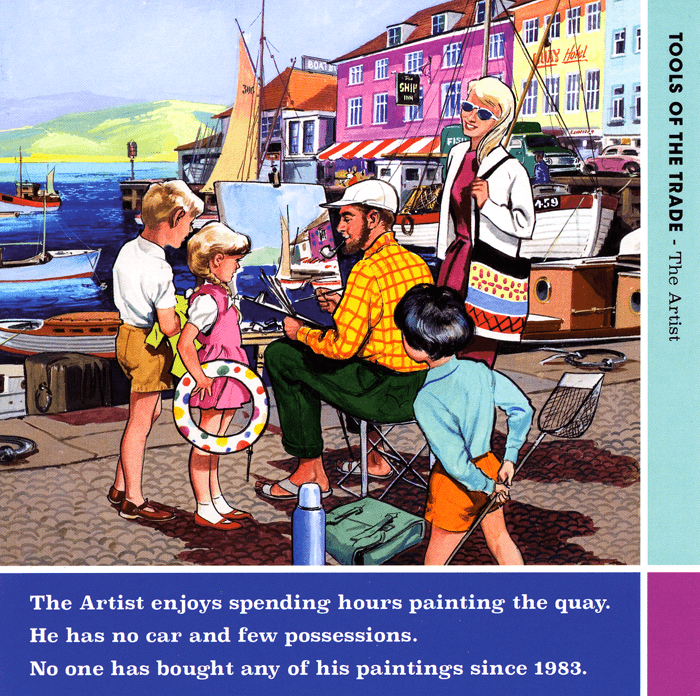 Funny Cards - Artist Painting The Quay