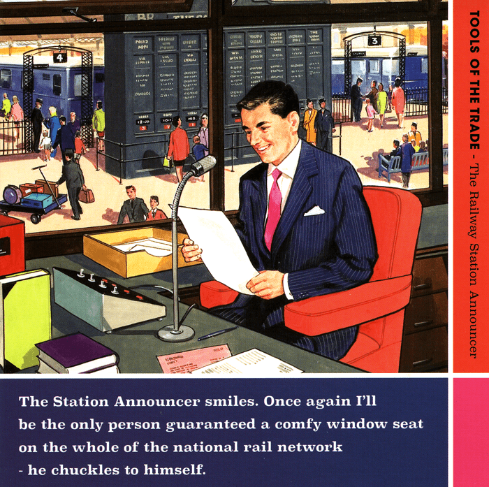 Funny Cards - Railway Station Announcer Smiles