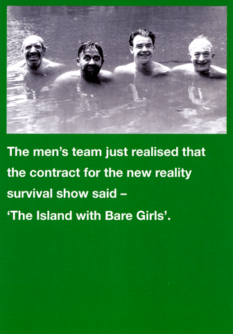 Funny Cards - Island With Bare Girls