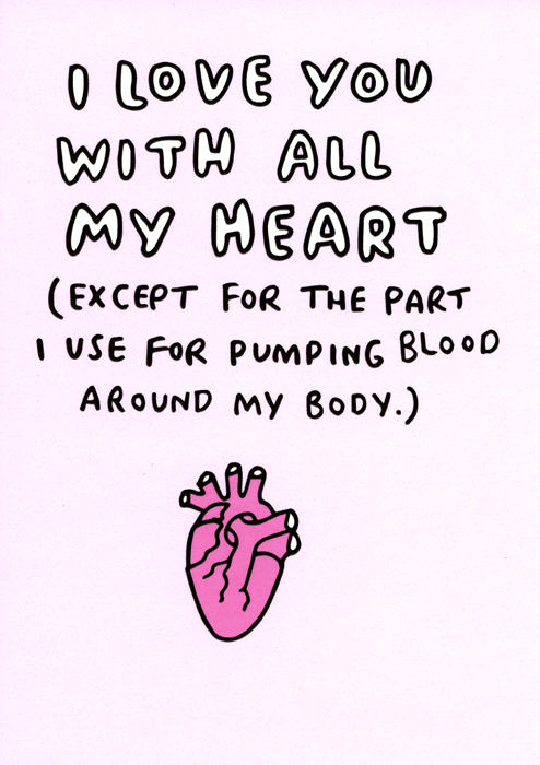 Valentines Cards - With All My Heart