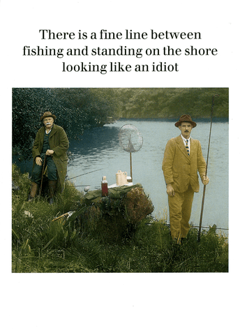 Funny Cards - Fishing - A Fine Line