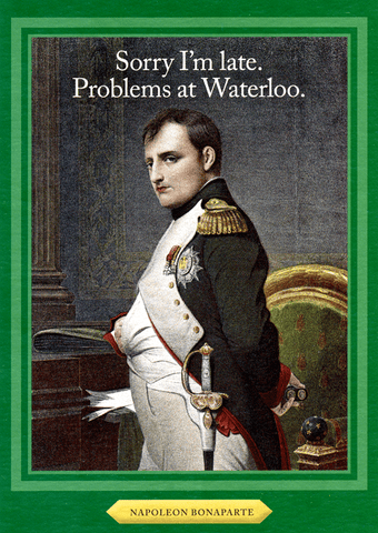 Funny Cards - Problems At Waterloo