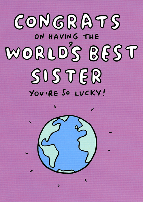 Birthday Card - World's Best Sister