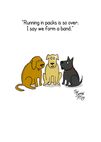 Funny Cards - Dogs - Form A Band