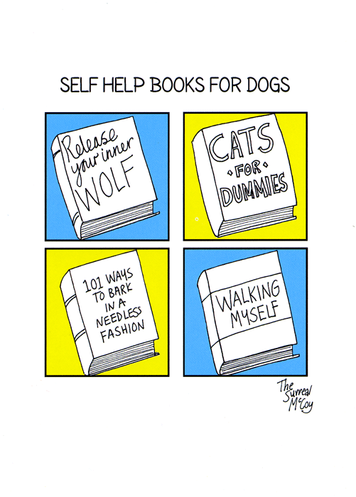 Funny Cards - Self Help Books For Dogs