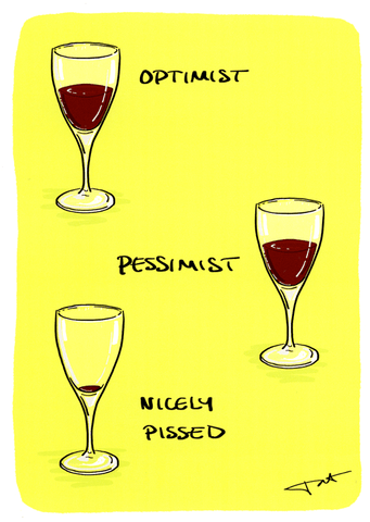 Funny Cards - Optimist, Pessimist, Pissed