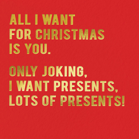 Funny Christmas Cards - All I Want For Christmas