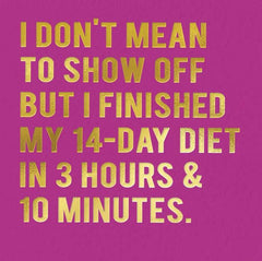 Funny Cards - Finished Diet